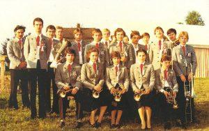 Die Blaskapelle beim 10-jährigen Gründungsfest 1981