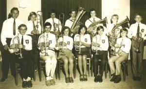 Jugendblaskapelle Kirchberg v. W. im Jahre 1972
